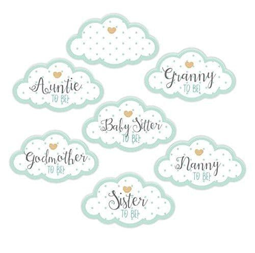 Unisex Mint Green Baby Shower Party Guest Stickers