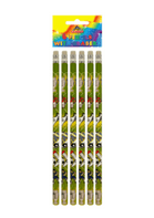 6 pack football themed pencils (Code 4752)