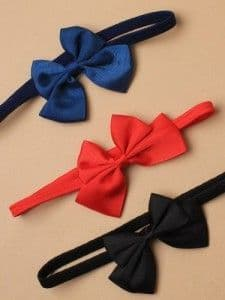 Elasticated stretch bandeau with fabric bow (Code 3756)