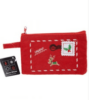 Embroidered Christmas zip purse (Code 4892)