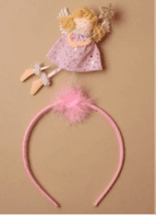 Frosty glitter aliceband with cute fairy (Code 4329)