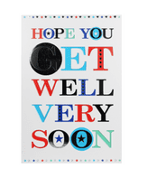 Get well soon greeting card (Code 4763)