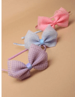 Gingham bow alice band (Code 4945)