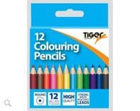 Pack of 12 half length colouring pencils (Code 4099)