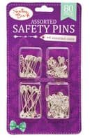 Pack of assorted safety pins (Code 4164)