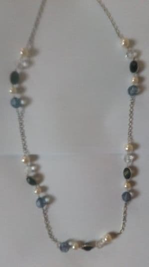 Senze long beaded chain necklace (Code 4713)