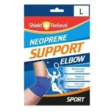 Shield and relieve neoprene elbow support (Code 3212)