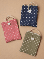 Spotty fabric purse with shoulder strap (Code 3946)