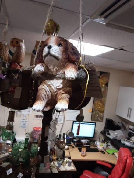 Cute Resin Hanging Puppy