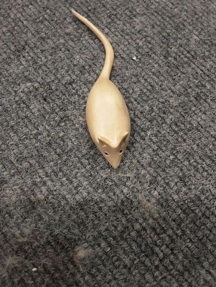 Wooden hand carved mouse