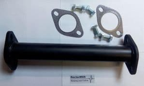 375mm De-Cat Pipe, Mazda MX-5, Eunos Roadster with fitting kit - 57mm dia Steel