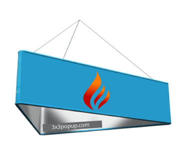 Hanging Overhead Round Structure Formulate Hanging Exhibition Banner Structures Suspended Fabric Banners For Roof Fitting