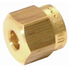 FUEL PIPE BRASS COMPRESSION NUT  Size  1/4
