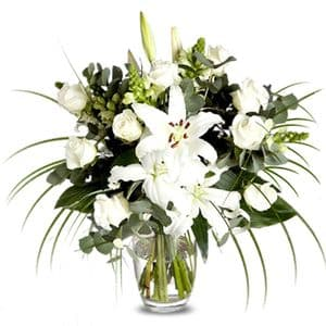 Lilies and White Roses
