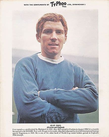 Alan Ball, Everton & England, vintage 1960's Typhoo Tea card.