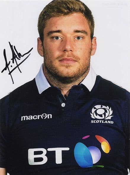 Alex Allan, Glasgow Warriors & Scotland, signed 8x6 inch photo.