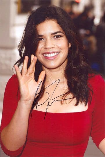 America Ferrera, Ugly Betty, signed 12x8 inch photo.