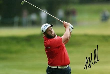 """Andrew """"Beef"""" Johnston, signed 12x8 inch photo."""