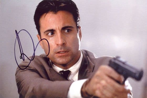 Andy Garcia, signed 12x8 inch photo.