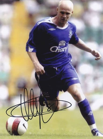 Andy Johnson, Everton & England, signed 8x6 inch photo.