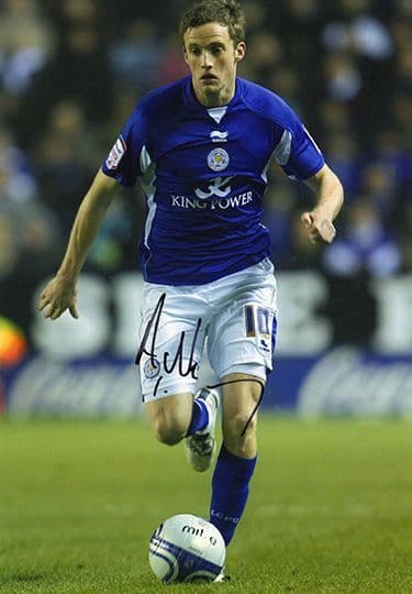 Andy King, Leicester City, signed 12x8 inch photo.