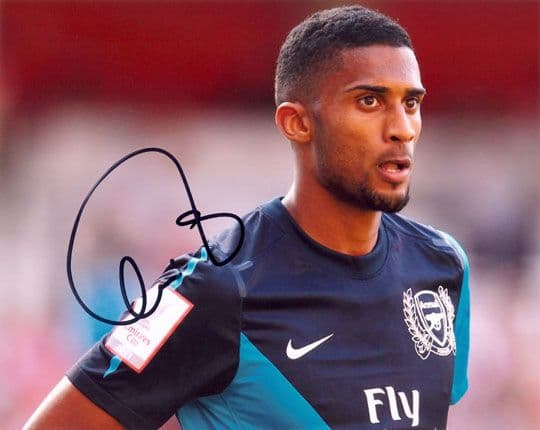 Armand Traore, Arsenal & Senegal, signed 10x8 inch photo.