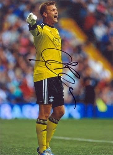 Artur Boruc, Southampton, signed 7x5 inch photo.