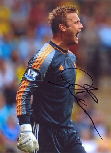 Artur Boruc, Southampton, signed 7x5 inch photo.(2)