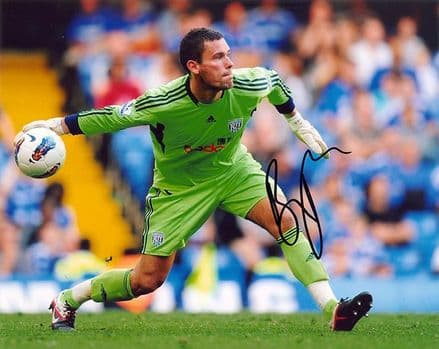 Ben Foster, West Brom & England, signed 10x8 inch photo.