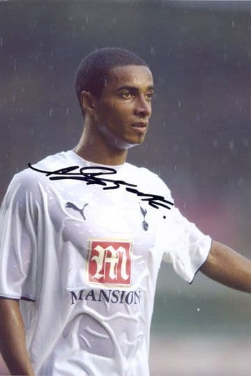 Benoit Assou-Ekotto, Tottenham Hotspur, signed 12x8 inch photo.(2)