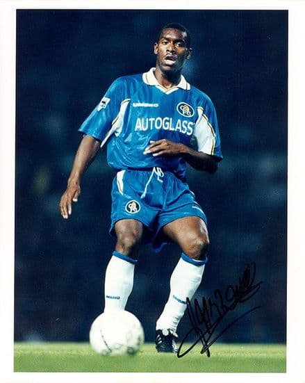 Bernard Lambourde, Chelsea, signed 10x8 inch press photo.