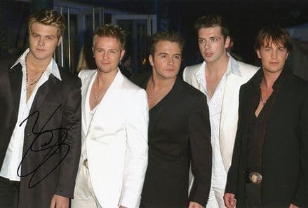 Brian McFadden, Westlife, signed 12x8 inch photo.