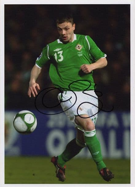 Chris Baird, Northern Ireland, signed 7x5 inch photo.