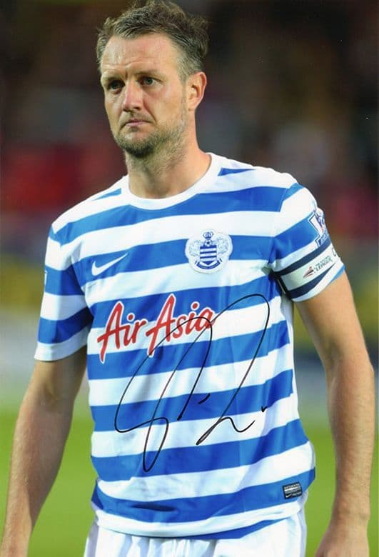 Clint Hill, QPR, signed 12x8 inch photo. (2)