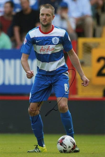 Clint Hill, QPR, signed 12x8 inch photo.