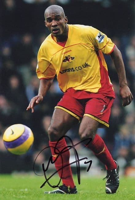 Damien Francis, Watford, signed 12x8 inch photo.
