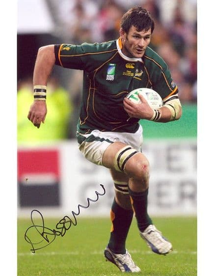 Danie Rossouw, South Africa, signed 10x8 inch photo.