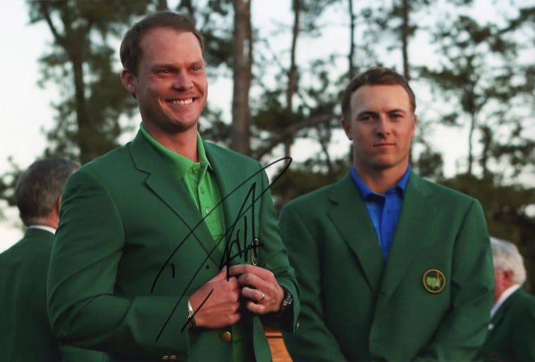 Danny Willett, Masters 2016 Augusta National, signed 12x8 inch photo.
