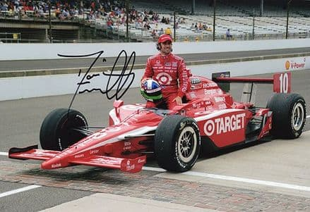 Dario Franchitti, Indy 500, signed 12x8 inch photo.