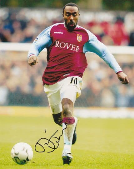 Darius Vassell, Aston Villa & England, signed 10x8 inch photo.