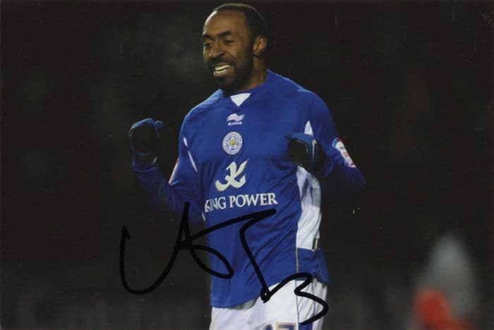 Darius Vassell, Leicester City & England, signed 6x4 inch photo.