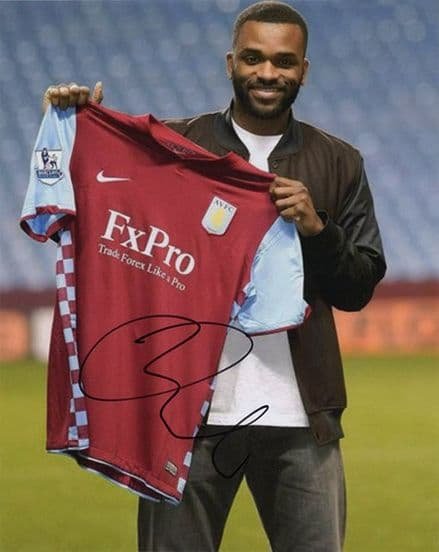 Darren Bent, Aston Villa & England, signed 10x8 inch photo.