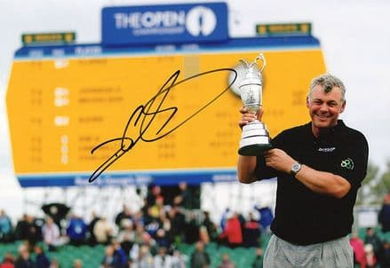 Darren Clarke, Open Champion 2011, signed 12x8 inch photo.