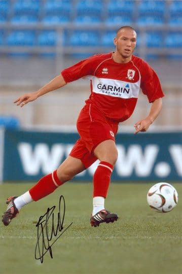 Didier Digard, Middlesbrough, signed 12x8 inch photo.