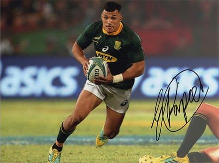 Embrose Papier, South Africa, signed 8x6 inch photo.