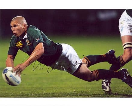 Enrico Januarie, South Africa, signed 10x8 inch photo.(2)
