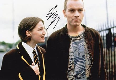 Ewan McGregor, Trainspotting, signed 12x8 inch photo.
