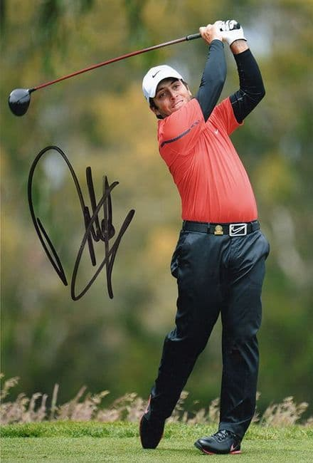 Francesco Molinari, European Tour golfer, signed 12x8 inch photo.