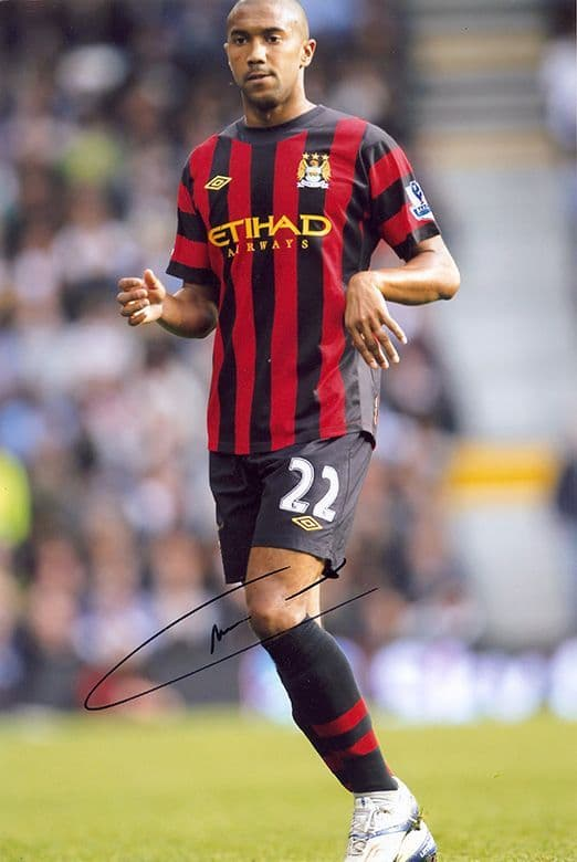 Gael Clichy, Manchester City & France, signed 12x8 inch photo.
