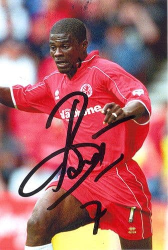 George Boateng, Middlesbrough & Holland, signed 6x4 inch photo.